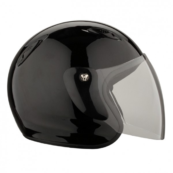 Casque jet 601 noir brillant RIDE