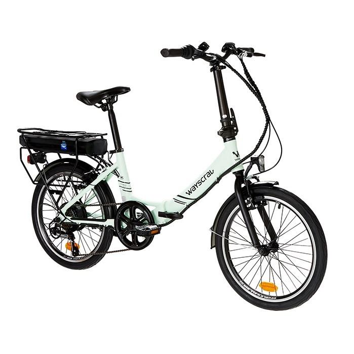 """Vélo électrique pliant Takeaway E100 vert 20"""" Wayscral"""
