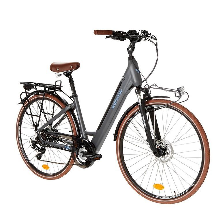 """Vélo de ville électrique Everyway E250 gris 28"""" Wayscral"""