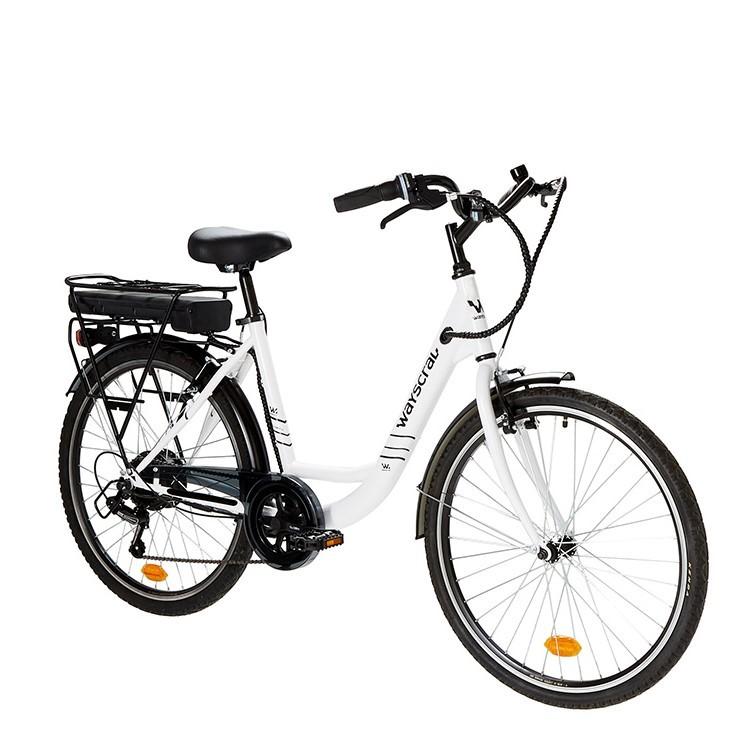 """Vélo de ville électrique Everyway E50 blanc 26"""" Wayscral"""