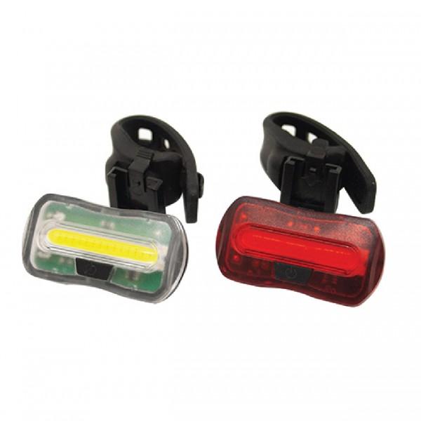 Eclairage avant/arrière à piles Vélo Wayscral