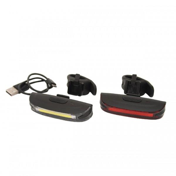 Eclairage avant/arrière rechargeable USB Vélo Wayscral