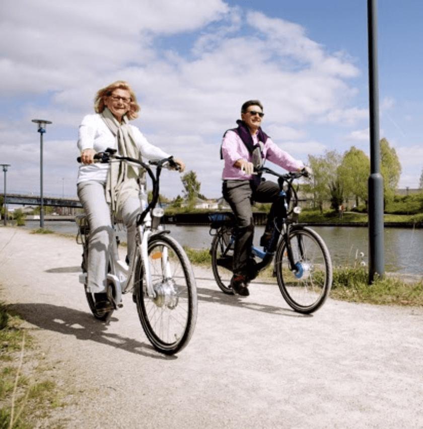 Voies vertes en vélo de ville électrique